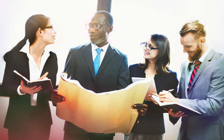 economic theory: Business Brainstorming Discussion Analysis Plan Concept Stock Photo