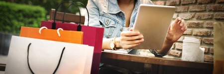 쇼핑 구매 상거래 고객 행복 개념 스톡 콘텐츠