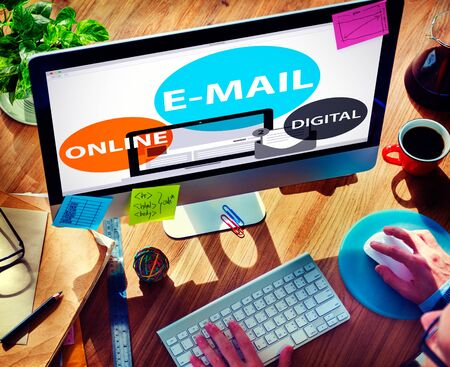 messaging: E-mail Online Digital Instant Messaging Concept Stock Photo