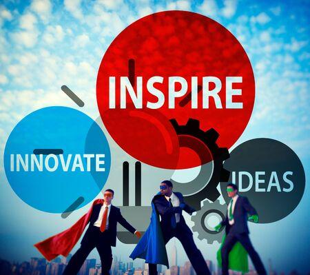 Inspire Ideas Innovate Imagination Inspiration Concept