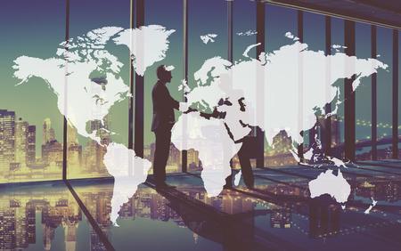 Świat Globalny Kartografia Globalizacja Earth International Concept