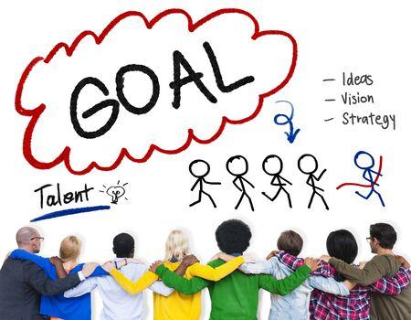 facing backwards: Goal Expectation Target Mission Aim Concept