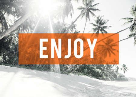 Enjoy Summer Friendship Beach Vacation Concept