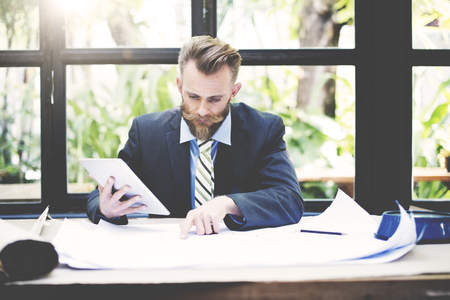 concentrate on: Business Businessman Concentrate Strategy Creative Concept Stock Photo