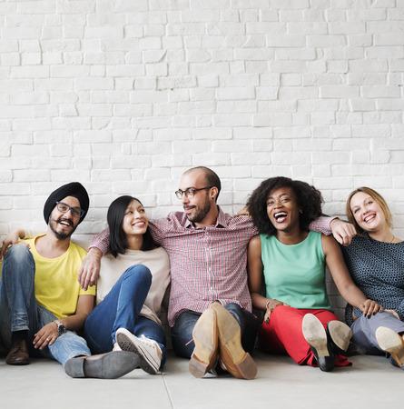 Loisirs Travail d'équipe Bonheur Hipster Ethnicité Concept