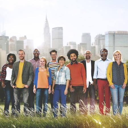 ethnic diversity: Colleagues Cooperation Ethnic Diverse Partnership Concept