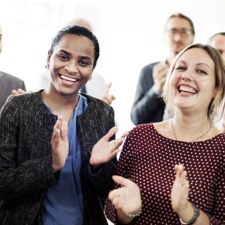 applauding: Business People Team Applauding Achievement Concept