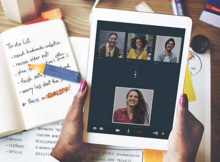 video call: Video Call Facetime Chatting Communication Concept