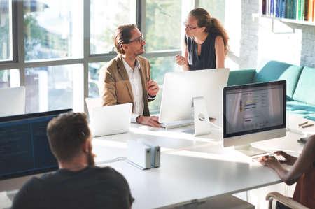 occupation: Designer Meeting Colleague Teamwork Occupation Concept Stock Photo