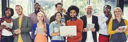 Ludzie Komunikacyjnego laptop pastylki technologii networking pojęcia Zdjęcie Seryjne