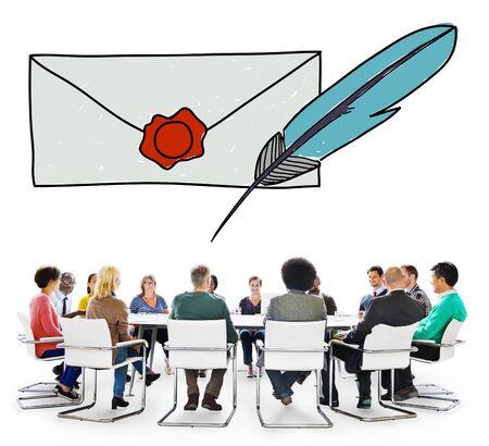 correspondence: Correo correspondencia Comunicación Concepto Conexión