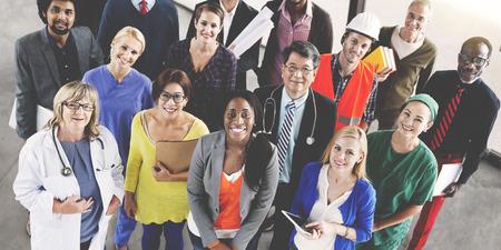 Feiern Diverse Menschen Vaus Berufe Konzept
