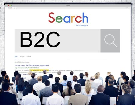 b2c: B2C Business to Consumer Customer Solution Concept