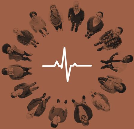 cardiogram: Heartbeat Healthcare Life Health Cardiogram Concept