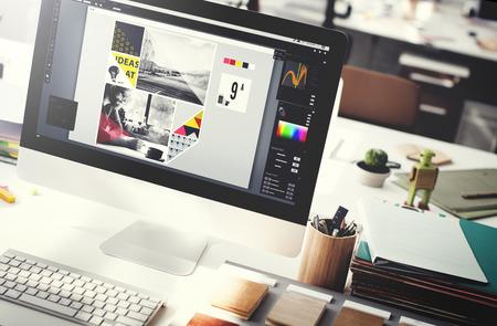 conceito: Design Studio Criatividade Ideia Madeira Paleta Decoração Conceito