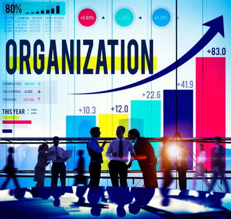organization: 조직 관리 네트워크 기업 연결 개념 스톡 콘텐츠