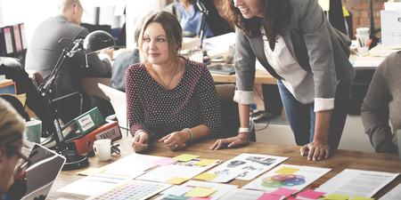 Geschäftsleute Treffen Design Ideas-Konzept Standard-Bild