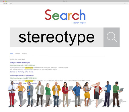 prejudice: Stereotype Belief Bias Prejudice Discrimination Perception Concept Stock Photo