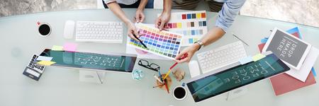 Brainstormen Planning Partnership Strategy Adminstratation Concept Stockfoto