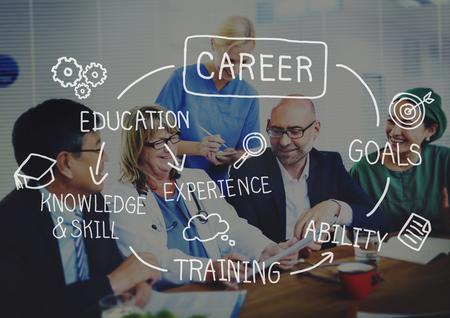 Carrières emploi Travail Recrutement Métier Concept