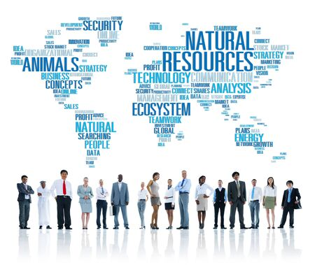 executive women: Natural Resources Environmental Conservation Sustainability Concept Stock Photo