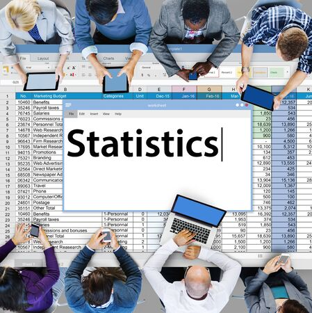 statistician: Statistics Stats Analysis Research Economic Financial Concept