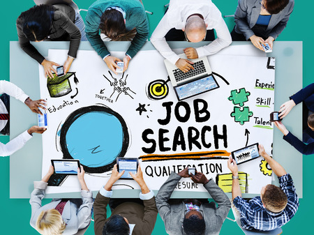 jobs: Job Search Qualification Resume Recruitment Hiring Application Concept