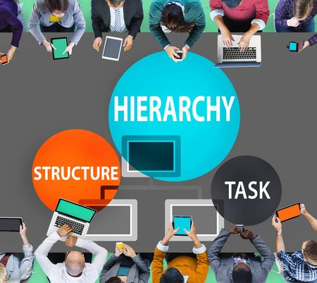 multilevel: Hierarchy Structure Task Multilevel Employment Concept