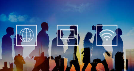 rush hour: Global Worldwide Digital Modern Connection Concept