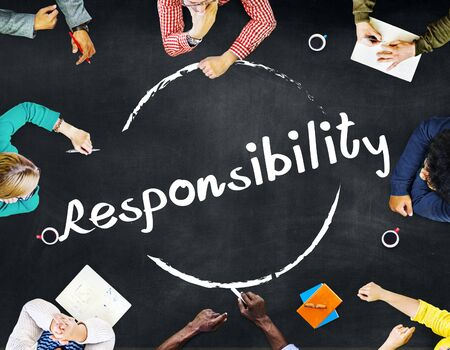 duty: Responsibility Obligation Duty Roles Job Concept Stock Photo
