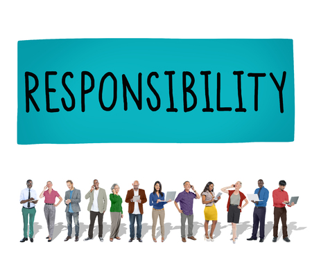 roles: Responsibility Obligation Duty Roles Job Concept Stock Photo