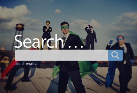 Zoeken Seo Online Internet Browsing Web Concept Stockfoto