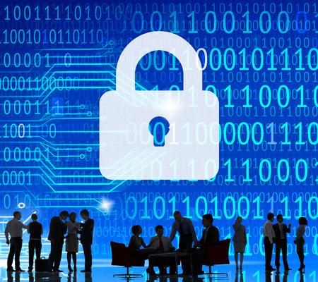 セキュリティ データ保護情報ロック保存プライベート コンセプト 写真素材