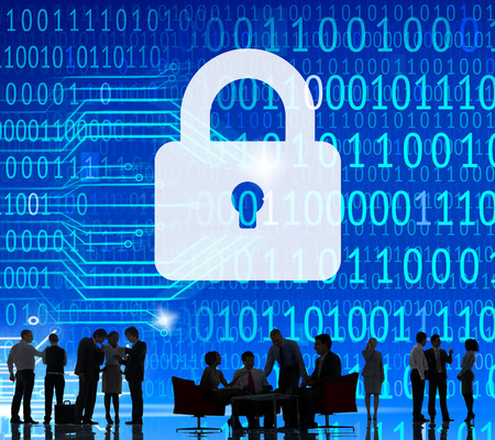 Veiligheid Data Protection inofrmation Lock Save Private Concept Stockfoto