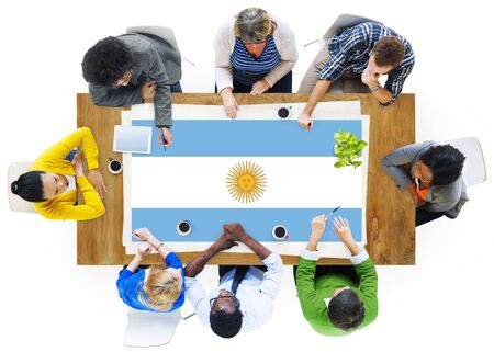 nationality: Agentina Flag Country Nationality Liberty Concept Stock Photo