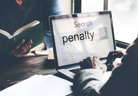 punishment: Penalty Fine Justice Punishment Rules Law Legal Concept