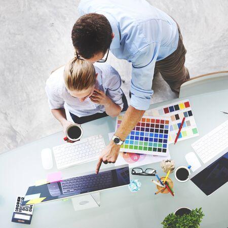Design Studio Créativité Idée Travail d'équipe Technologie Concept Banque d'images