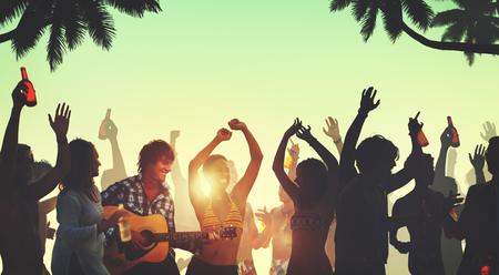 Persone Celebration Beach Party Estate concetto di vacanza per le vacanze