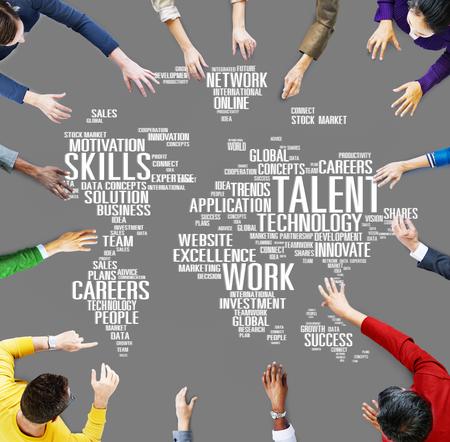 Talent Expertise Genius Fähigkeiten Professionelle Konzept