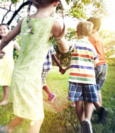 Preschooler bambini ricreazione Amici Concetto