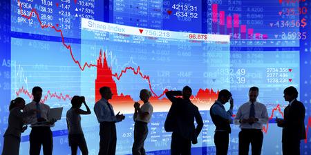 Silhouettes de crise financière