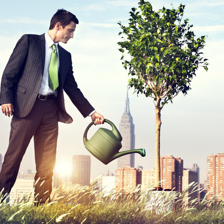 Businessman Entrepreneur Profit Beginning Concept Stock fotó