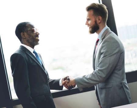 Handshake business: Handshake Business Deal Agreement Corporate Concept Stock Photo