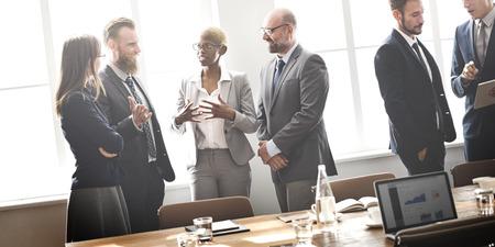 Business Group Meeting Dyskusja Strategia roboczy Concept Zdjęcie Seryjne
