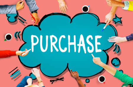 retail shopping: Purchase Marketing Retail Shopping Buying Concept