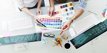 Design Studio Créativité Idée Travail d'équipe Technologie Concept