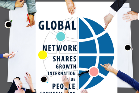 global village: Global Networking Worldwide international Concept
