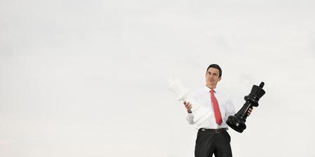 method: Businessman Thinking Strategy Planning Method Concept