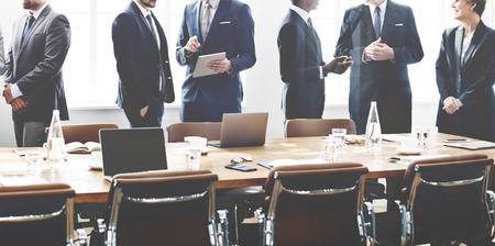 Concepto de Trabajo Discusión Los hombres de negocios Reunión Foto de archivo