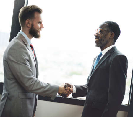 business words: Handshake Business Deal Agreement Corporate Concept Stock Photo